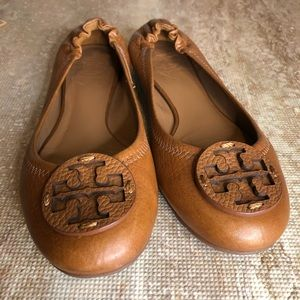 Tory Burch brown ballerina leather flats
